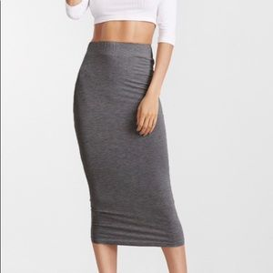 Misguided long line midi skirt xs